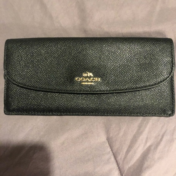 Coach Handbags - Authentic all black coach wallet.